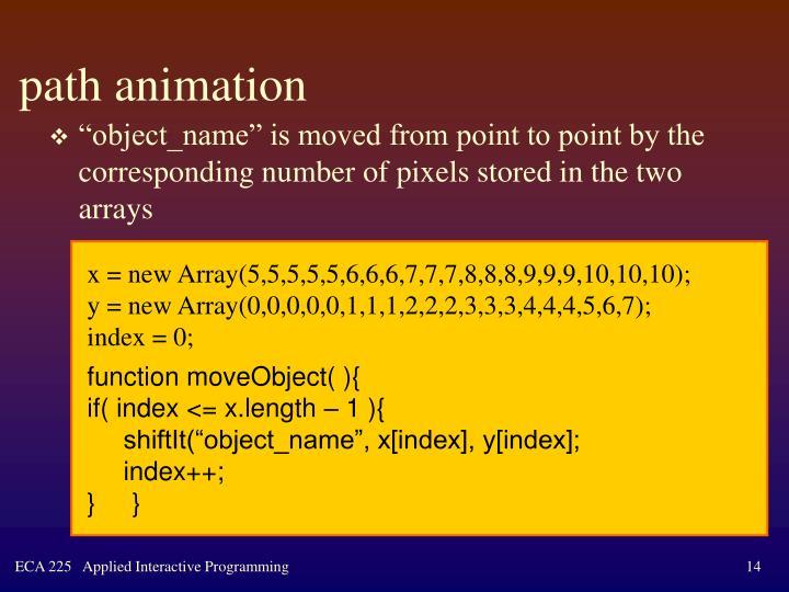 path animation