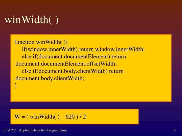 winWidth( )