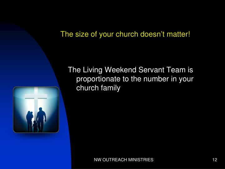 The size of your church doesn't matter!