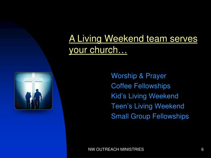A Living Weekend team serves your church…