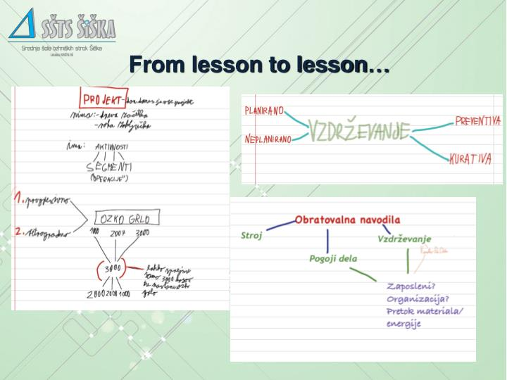 From lesson to lesson…