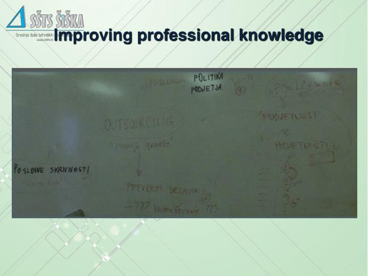 Improving professional knowledge