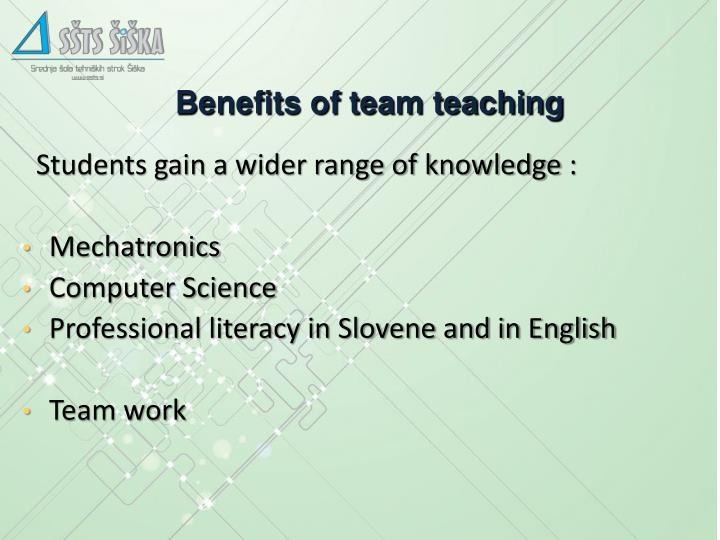 Benefits of team teaching
