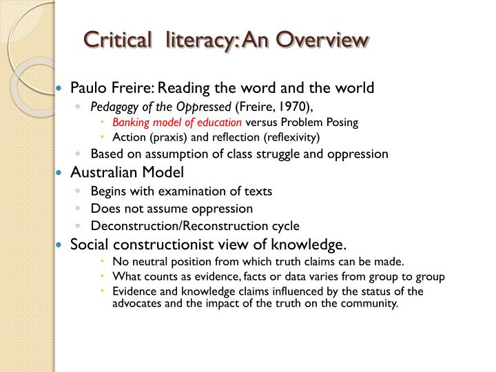 Critical  literacy: An Overview