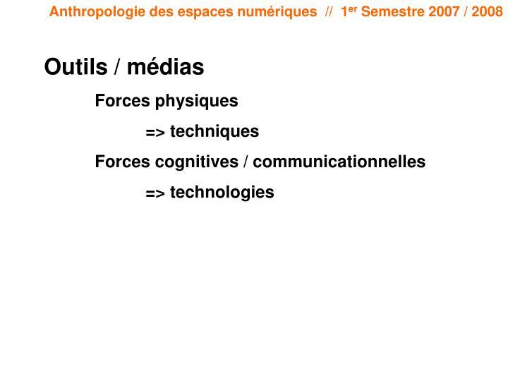 Outils / médias