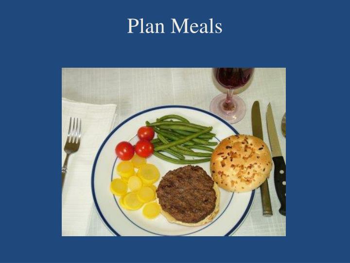 Plan Meals