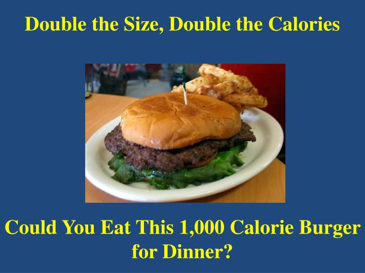 Double the Size, Double the Calories