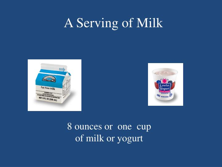 A Serving of Milk