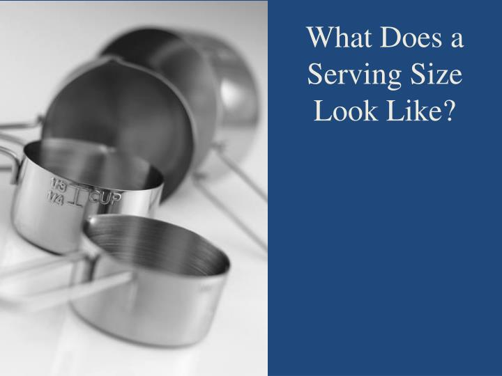 What Does a Serving Size Look Like?