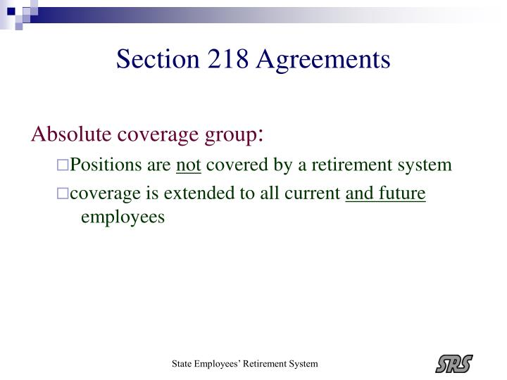 Section 218 Agreements