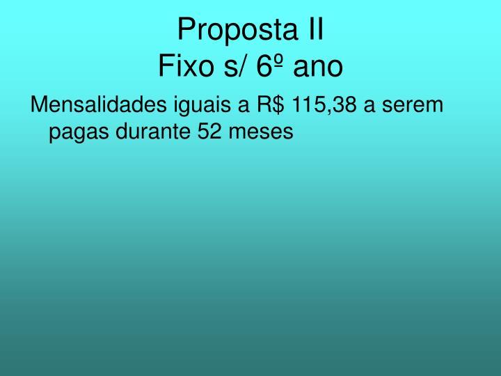 Proposta II