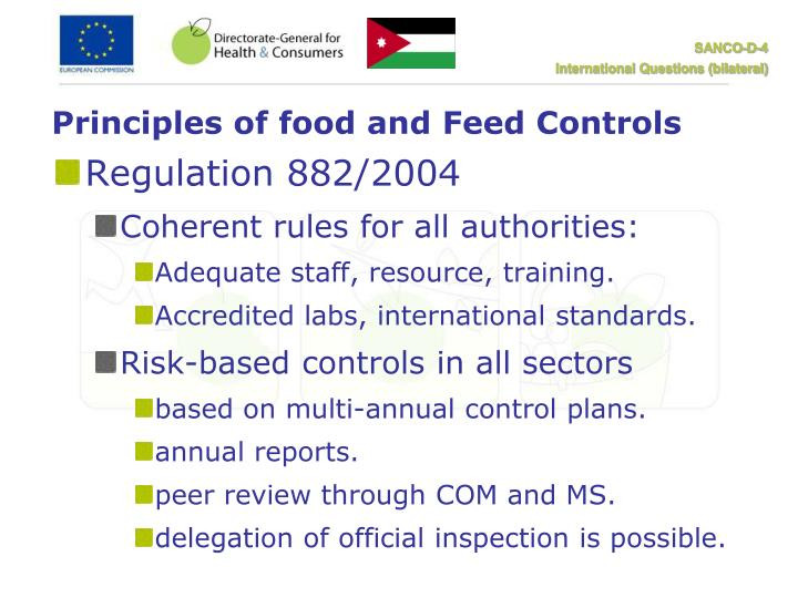 Principles of food and Feed Controls