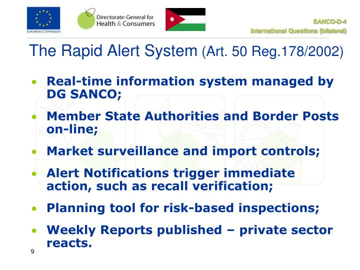 The Rapid Alert System