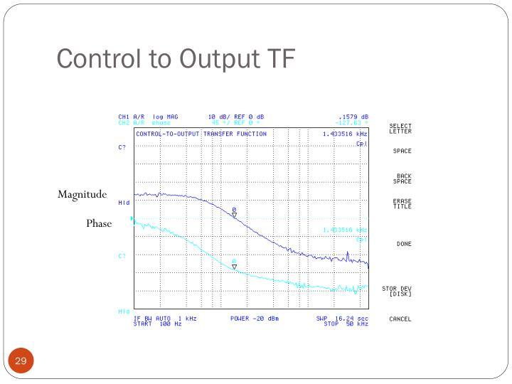 Control to Output TF