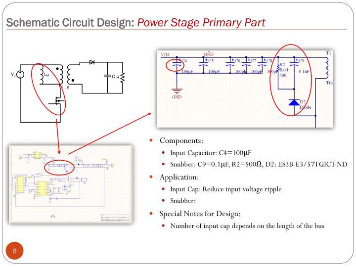 Schematic Circuit Design:
