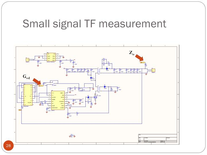 Small signal TF measurement