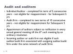 audit and auditors1