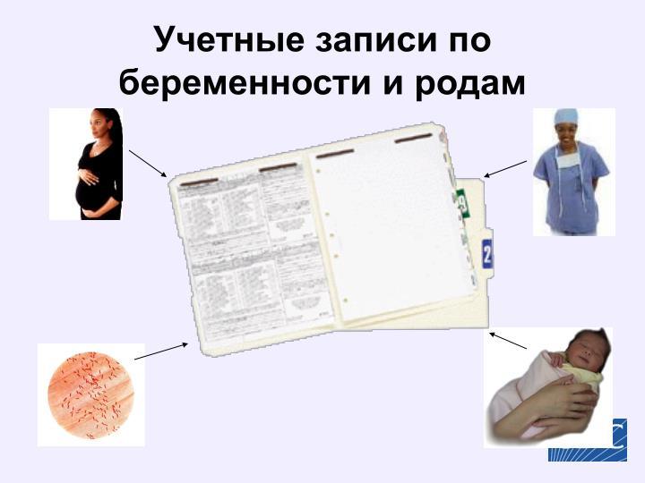 Учетные записи по беременности и родам