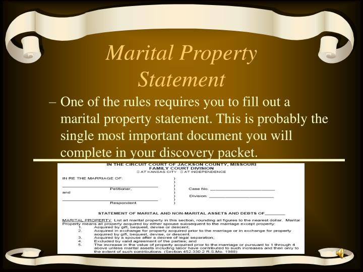 Marital Property Statement