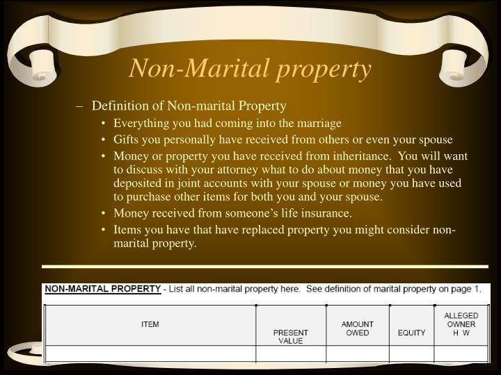 Non-Marital property