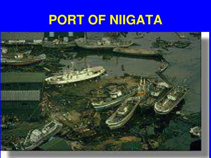 PORT OF NIIGATA