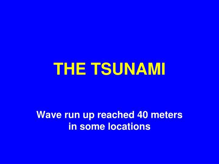 THE TSUNAMI