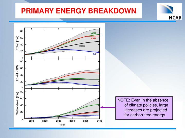 PRIMARY ENERGY BREAKDOWN