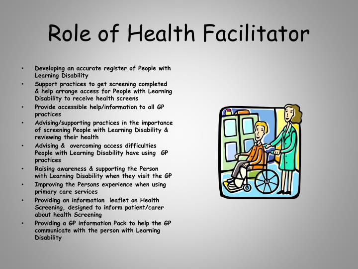 Role of Health Facilitator
