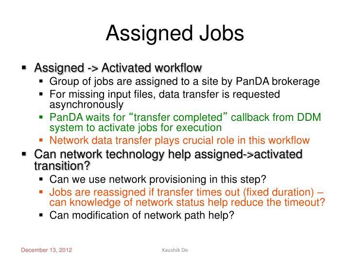 Assigned Jobs