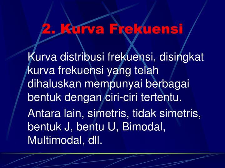 2. Kurva Frekuensi