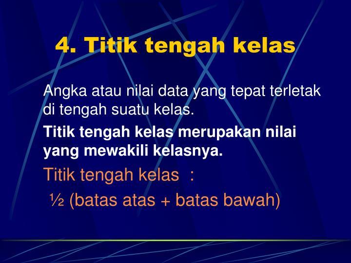 4. Titik tengah kelas