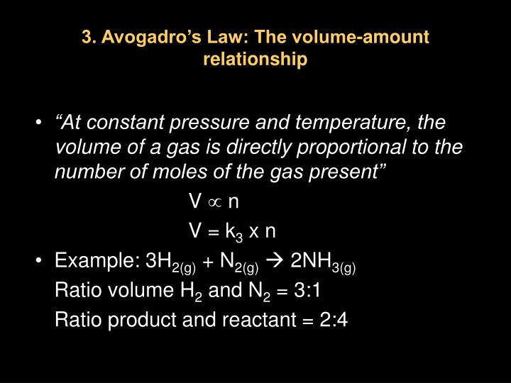 3. Avogadro's Law: The volume-amount relationship