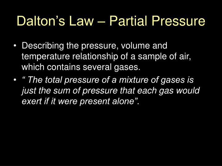 Dalton's Law – Partial Pressure