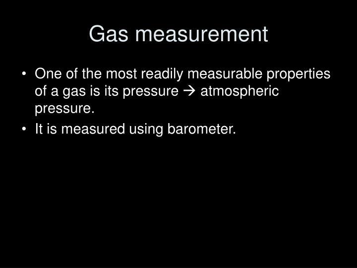 Gas measurement