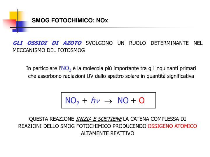 SMOG FOTOCHIMICO: NOx