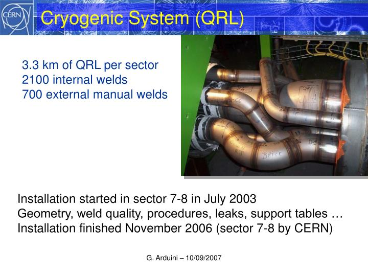 Cryogenic system qrl