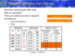 stage c physics run 25 ns