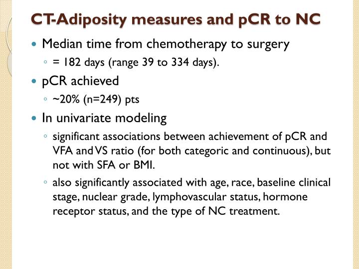 CT-Adiposity measures and