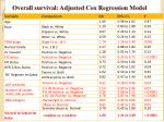 overall survival adjusted cox regression model