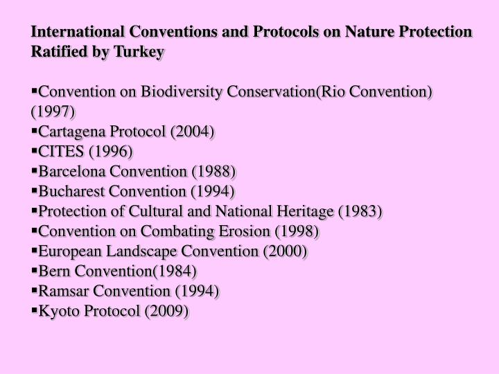 International Conventions and Protocols