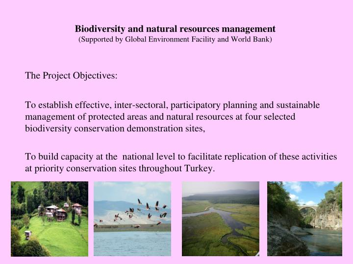Biodiversity and natural resources management