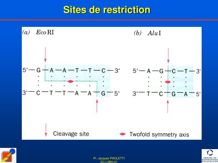 Sites de restriction