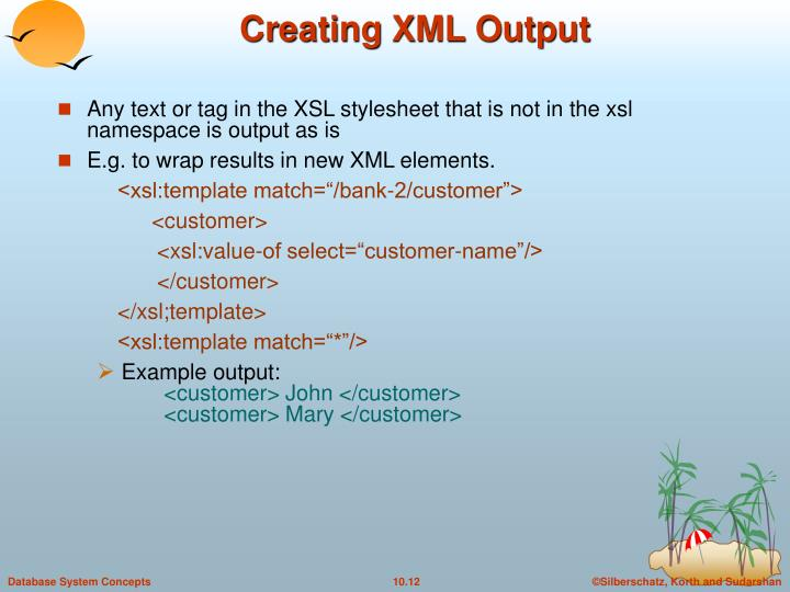 Creating XML Output