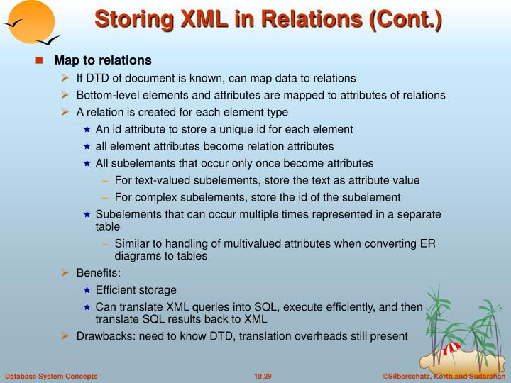 Storing XML in Relations (Cont.)