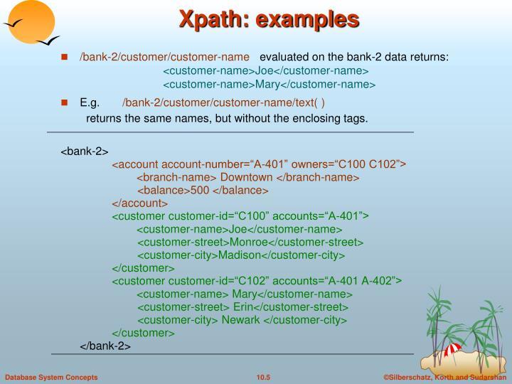 Xpath: examples