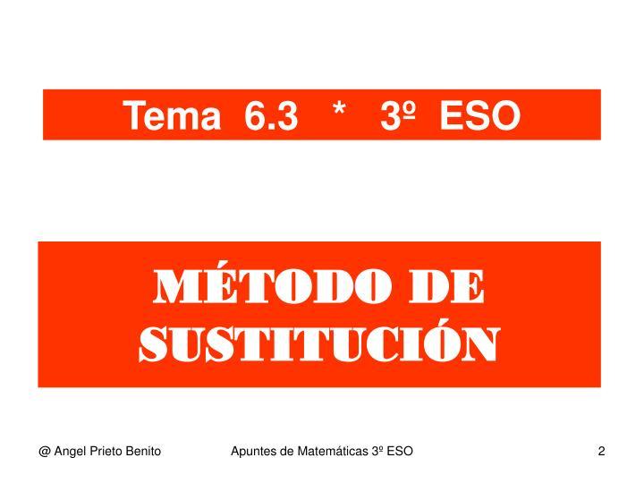 MÉTODO DE SUSTITUCIÓN