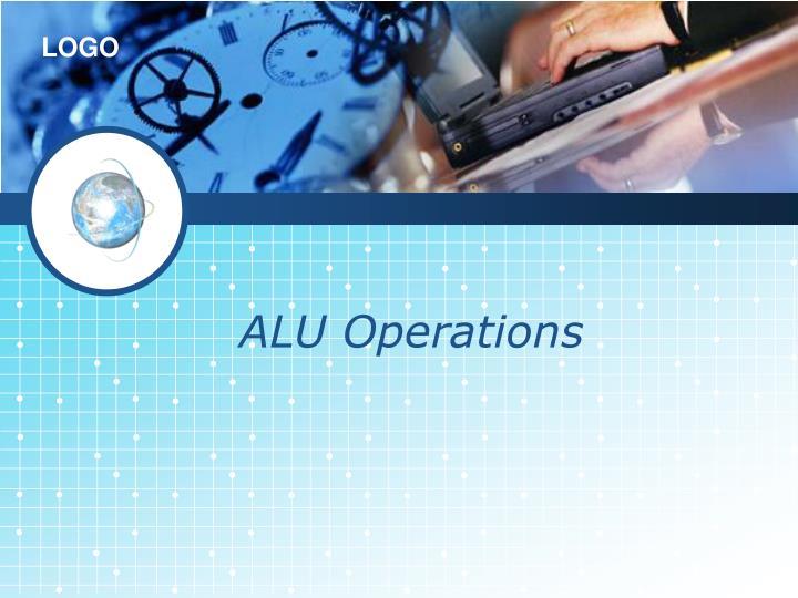 ALU Operations