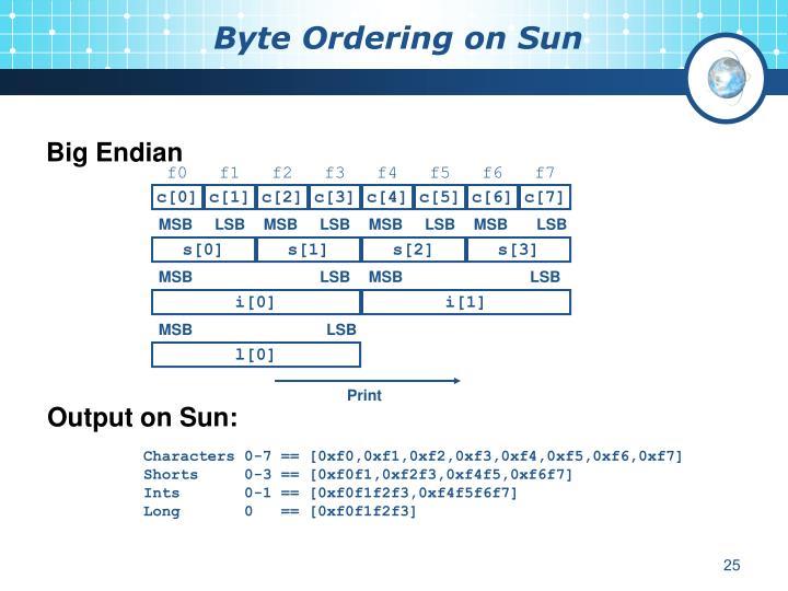 Byte Ordering on Sun