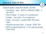 operand type size