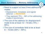short summary memory addressing